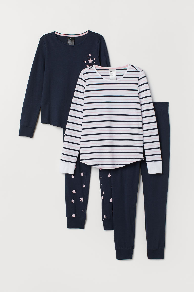 2-pack pyjamas - Dark blue/Stars - Kids | H&M CN