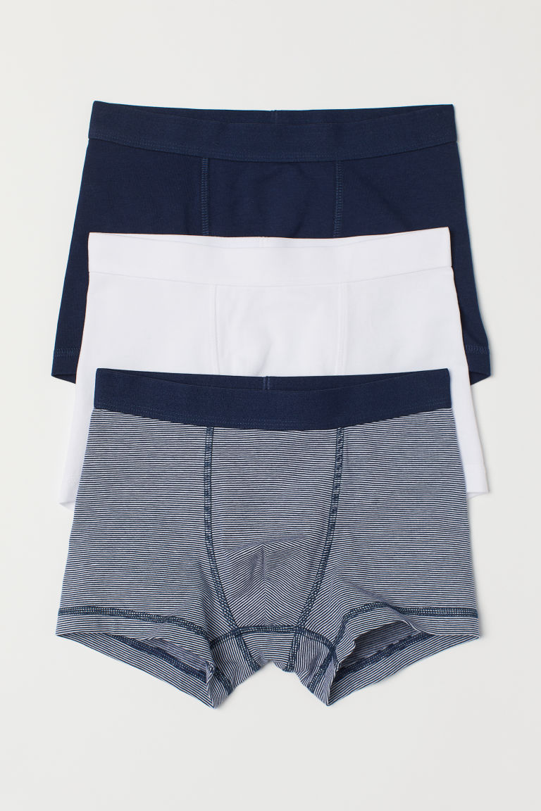 3-pack boxer shorts - Dark blue/Striped - Kids | H&M
