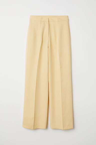 Lyocell-blend trousers - Light yellow - Ladies | H&M
