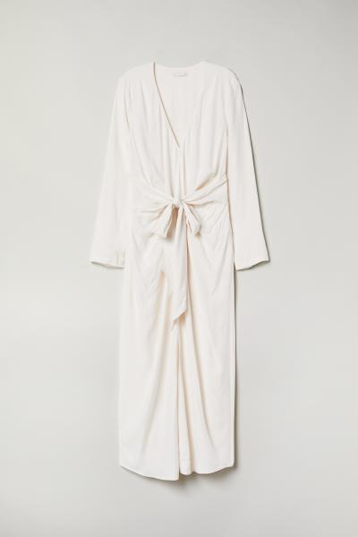 H&M - Robe avec ceinture à nouer - 1
