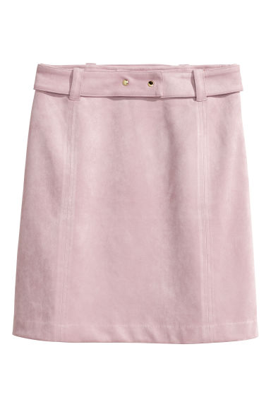 Imitation suede skirt - Light pink -  | H&M CN