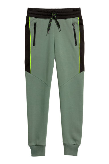 Joggers - Khaki green/Black - Kids | H&M CN