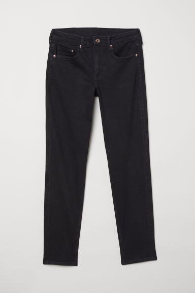 Girlfriend Regular Jeans - 黑色 -  | H&M CN
