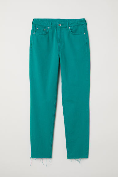 Slim Mom Jeans - Emerald green - Ladies | H&M