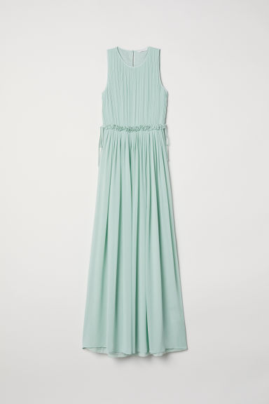 Long chiffon dress - Mint green -  | H&M CN