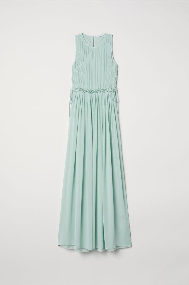 e58528500511e1 ... Maxi-jurk van chiffon - Mintgroen - DAMES