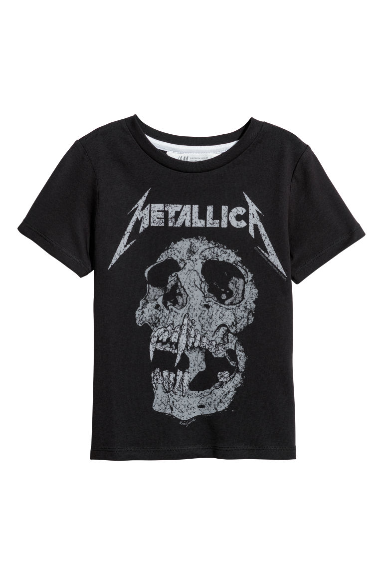 Printed T-shirt - Black/Metallica -  | H&M