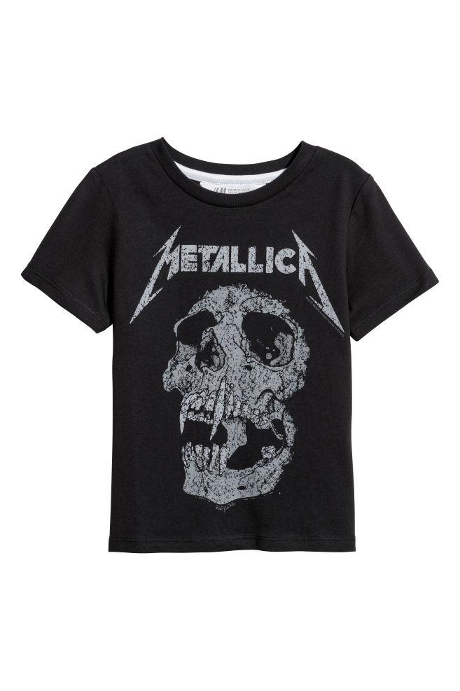 c4188fc5 Printed T-shirt - Black/Metallica - Kids | H&M ...