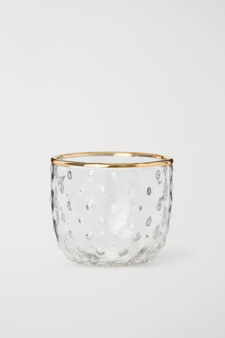 Small Glass Tea Light Holder - Clear glass - Home All | H&M CA