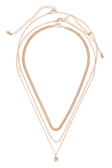 3-pack necklaces - Gold-coloured -  | H&M