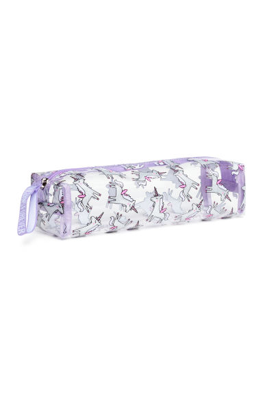 Pencil Case - Transparent/Unicorns -  | H&M