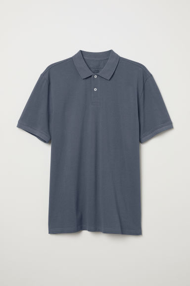 Polo shirt - Grey-blue - Men | H&M