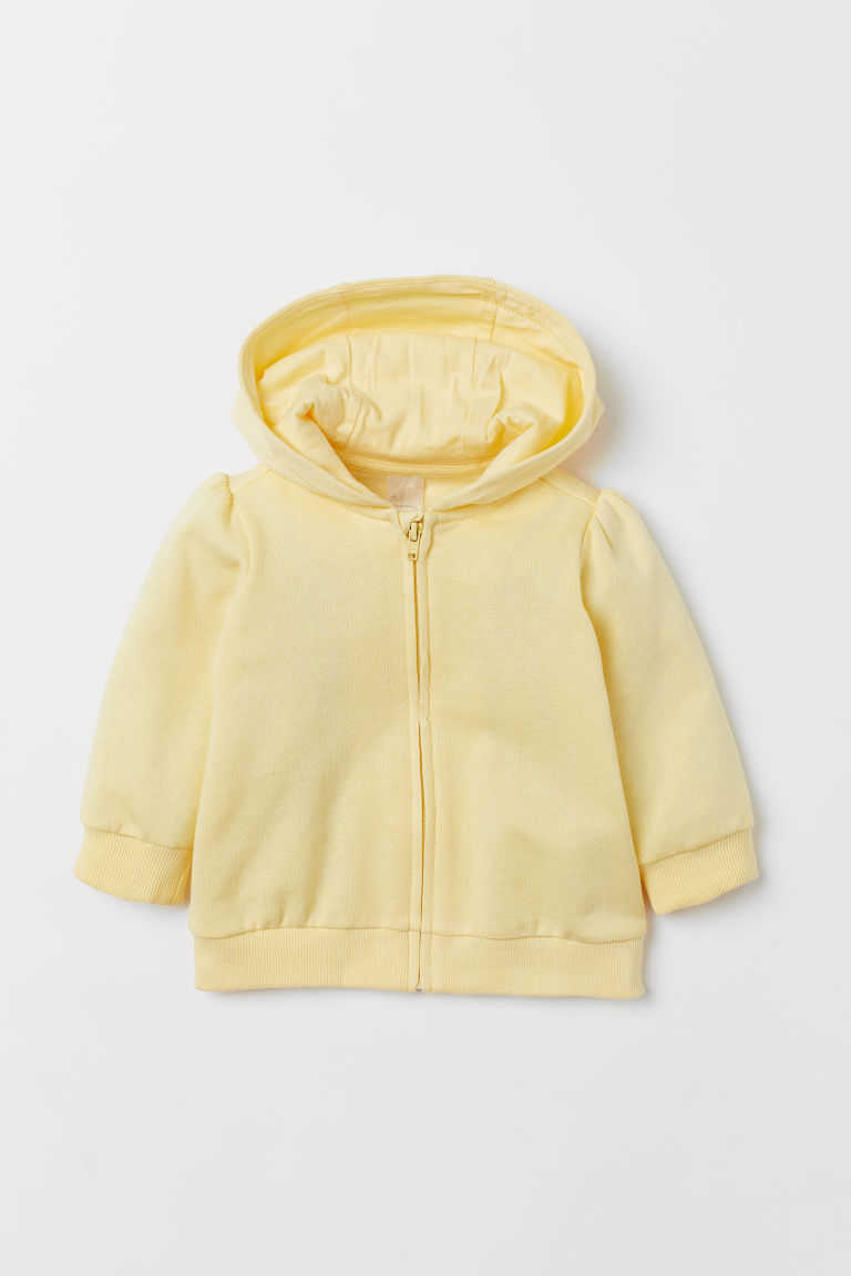 Hooded jacket - Light yellow -  | H&M IE