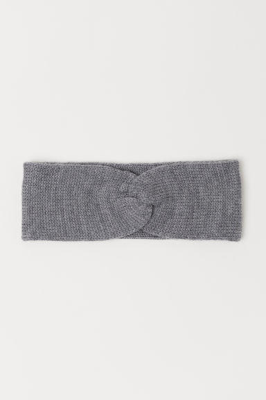 Wool headband - Grey marl - Kids | H&M