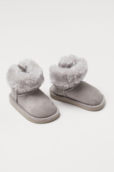 Warm-lined boots - Light grey - Kids | H&M
