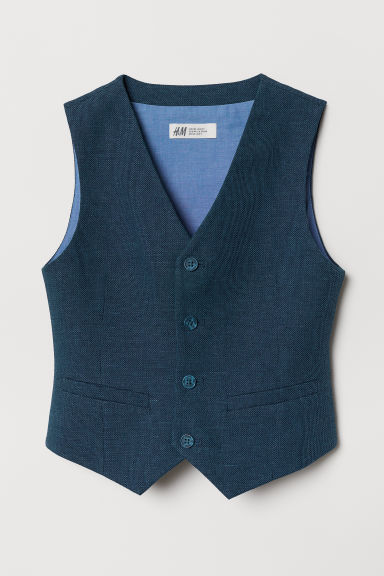 Linen-blend Suit Vest - Dark blue - Kids | H&M CA