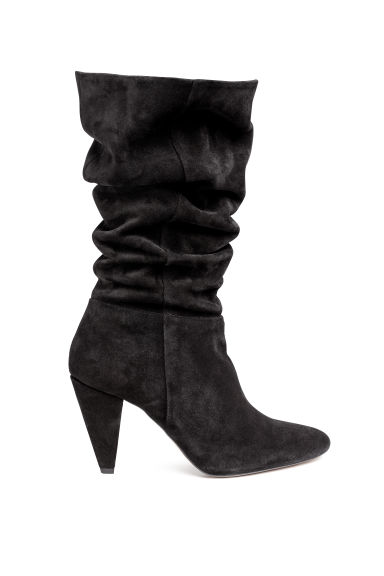 Suede boots - Black -  | H&M IE
