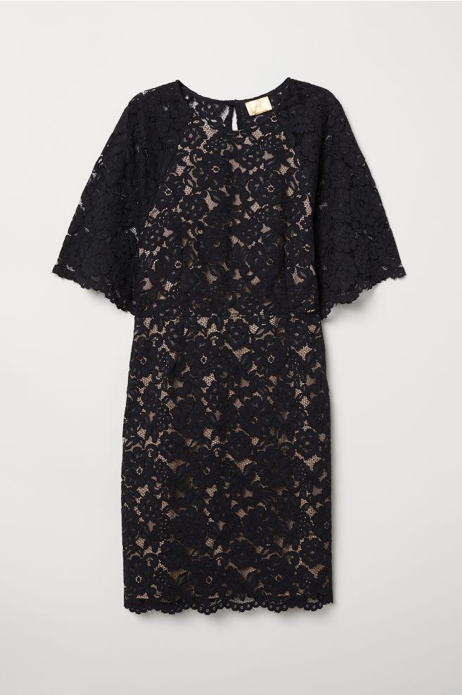 84d9400c219 Short Lace Dress - Black - Ladies