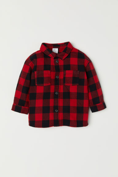 Checked shirt - Red - Kids | H&M CN