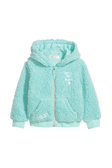 Pile hooded jacket - Light turquoise - Kids | H&M CN
