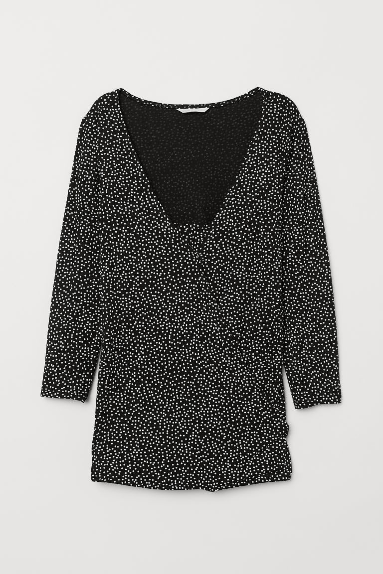 MAMA Nursing top - Black/Spotted - Ladies | H&M CN
