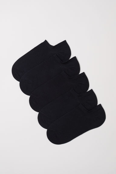 5-pack thin trainer socks - Black - Ladies | H&M CN