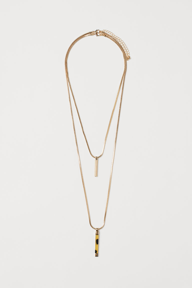 2-pack necklaces with pendants - Gold-coloured - Ladies | H&M CN