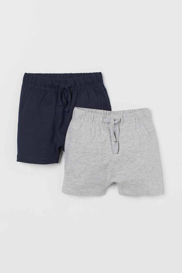 Shorts in jersey, 2 pz - Blu scuro/grigio mélange -  | H&M IT