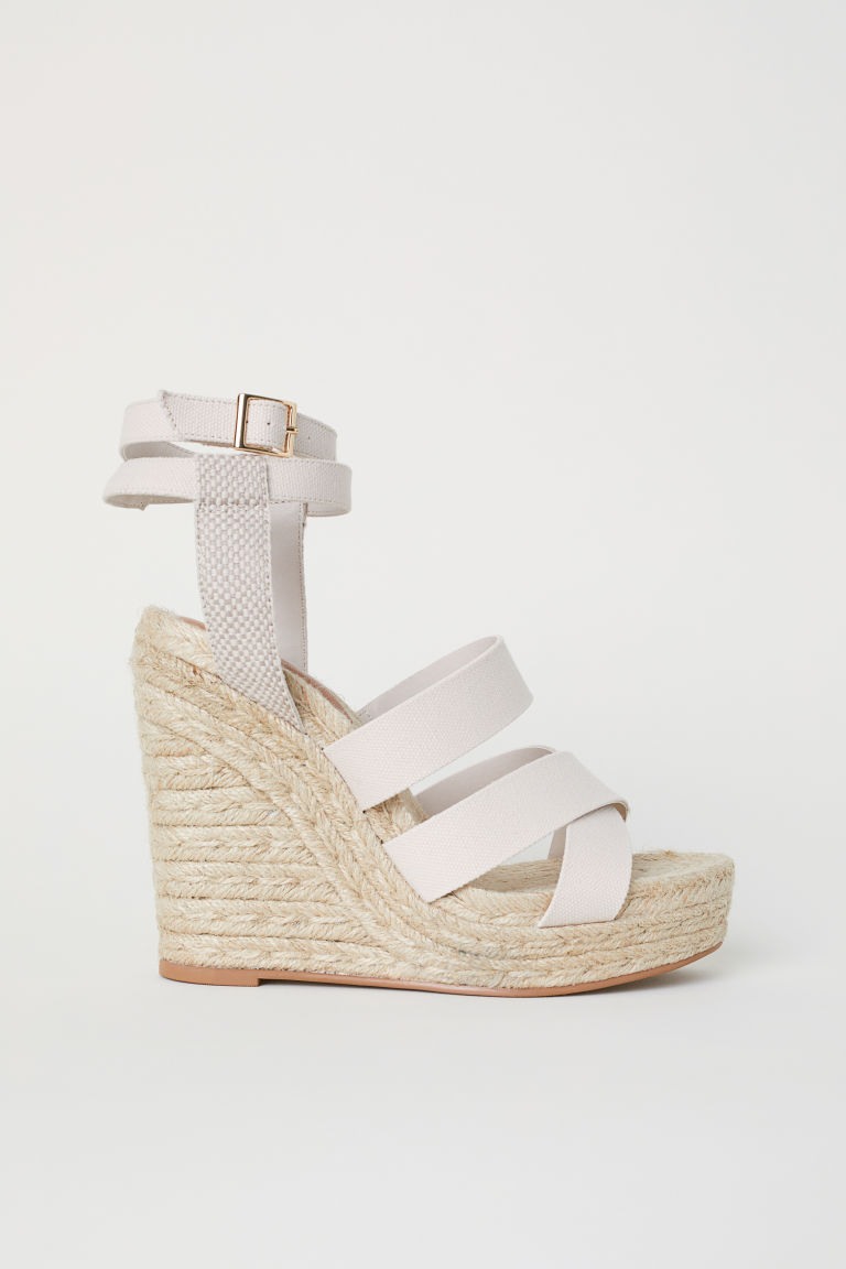 Wedge-heel platform sandals - Beige - Ladies | H&M
