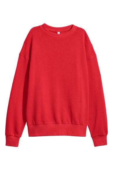 Oversized sweatshirt - Bright red -  | H&M