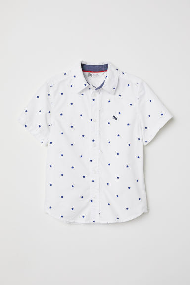 Cotton shirt - White/Stars - Kids | H&M