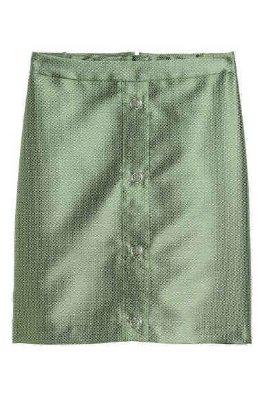 Short skirt - Dusky green - Ladies | H&M