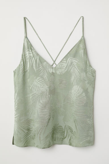 Top con scollo a V - Verde chiaro - DONNA | H&M IT
