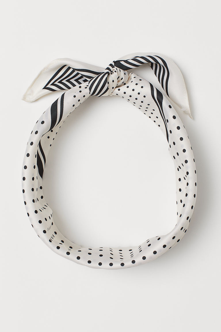 Patterned Scarf - White/patterned - Ladies | H&M US