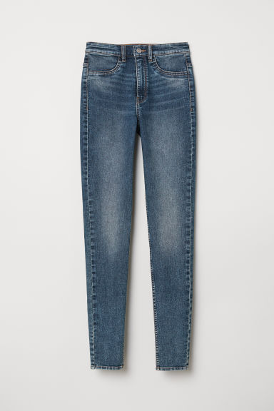 Super Skinny High Jeans - Denim blue/Washed - Ladies | H&M