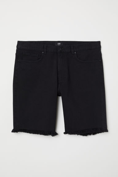 Slim Denim Shorts - Black - Men | H&M CN