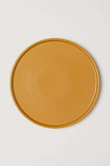 Stackable stoneware plate - Dark yellow - Home All | H&M CN