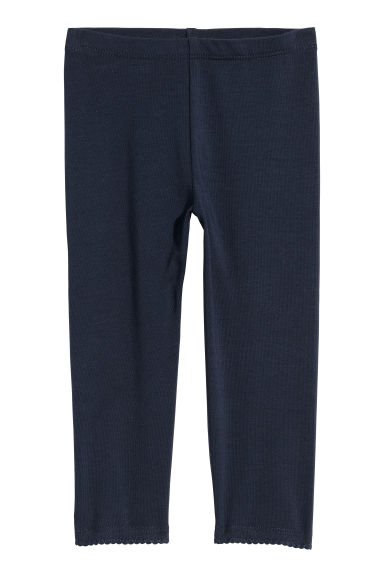 3/4-length leggings - Dark blue - Kids | H&M