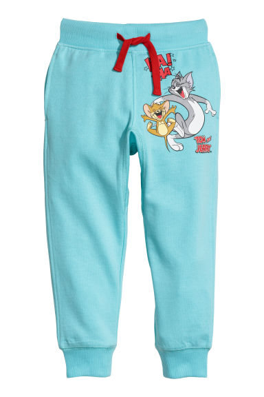 Joggers med tryck - Turkos/Tom & Jerry -  | H&M FI