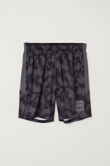 Basketball shorts - Black/Dark grey -  | H&M