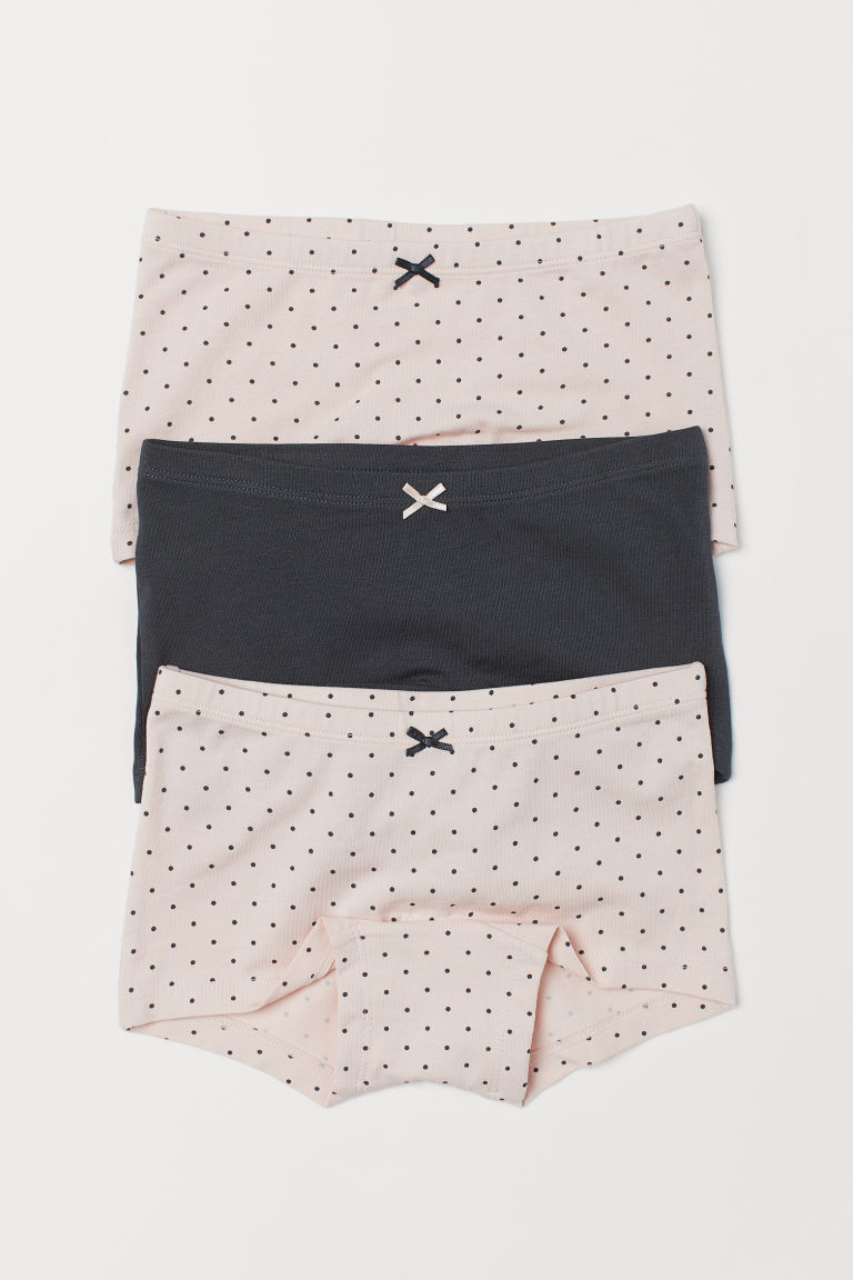 3-pack boxer briefs - Powder pink/Spotted - Kids | H&M CN