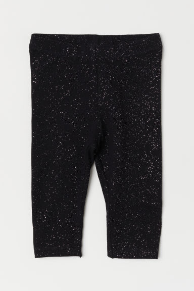 Jerseyleggings - Schwarz/Glitzernd - Kids | H&M AT