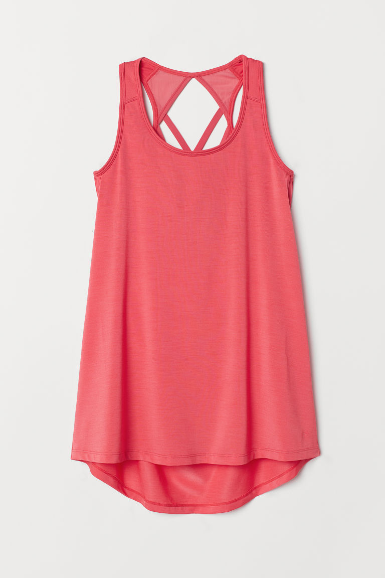 Sports top with sports bra - Pink - Ladies | H&M