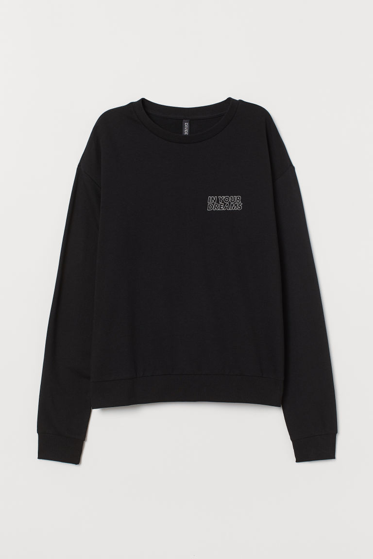 Sweatshirt - Svart/In your dreams - DAM | H&M FI