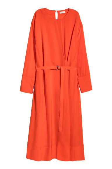 Calf-length dress - Bright red - Ladies | H&M CN
