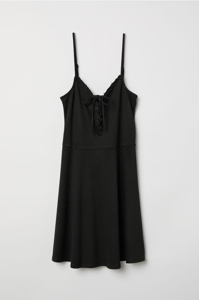 d4a5852895 Ujjatlan ruha - Fekete - NŐI | H&M ...