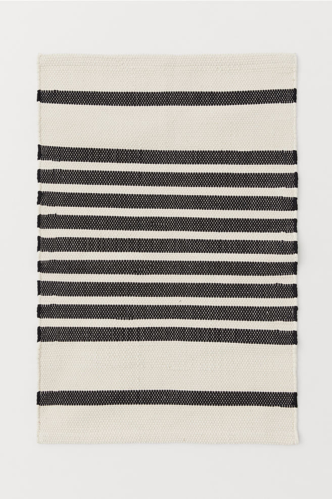 cf1254e98d5b Striped Bath Mat - Natural white/black striped - Home All | H&M ...