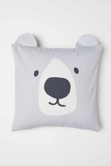 Cotton Twill Cushion Cover - Light gray/polar bear - Home All | H&M CA