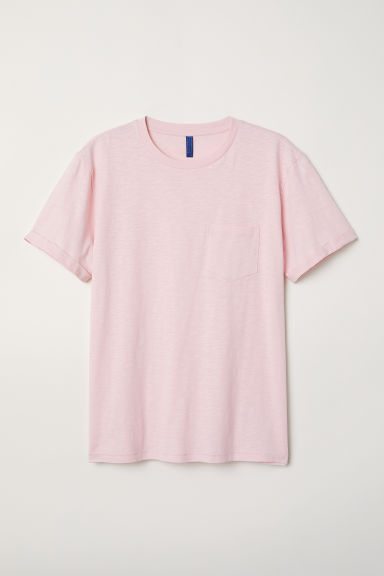 T-shirt with a chest pocket - Light pink - Men | H&M