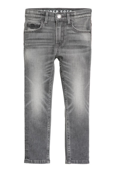 Super Soft Skinny Fit Jeans - Light grey denim - Kids | H&M